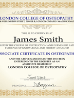 <p>Associate Certificate in Osteopathy</p>