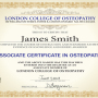 Associate Certificate in Osteopathy