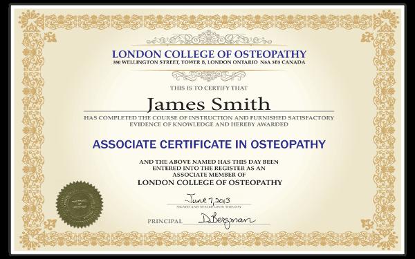 Associate Certificate in Osteopathy | London College of