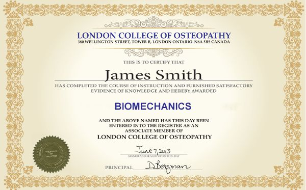 Certificate Biomechanics Online Course