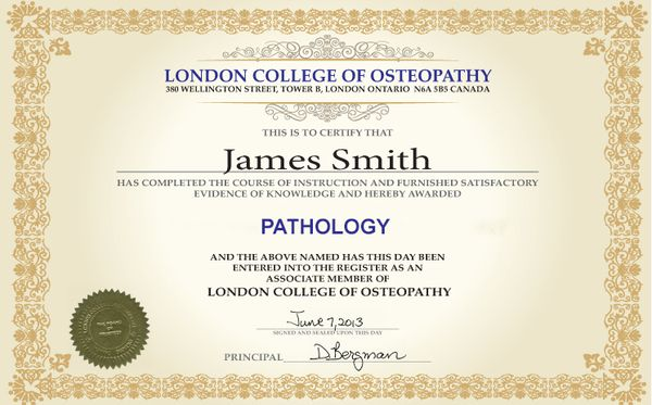 Certificate Pathology Online Course in London College of Osteopathy
